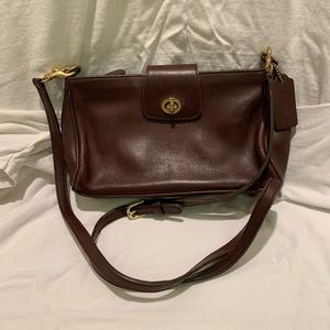 VTG Coach Small Red Brow. Leather Purse Crossbody